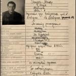 Sowjetische Gefangenenakte von Karl Paulmaier, Seite 1.