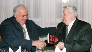 Wegbereiter der deutsch-russischen Annäherung: Bundeskanzler Helmut Kohl und der russische Präsident Boris Jelzin.
